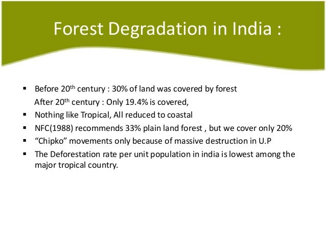 Write about afforestation in india