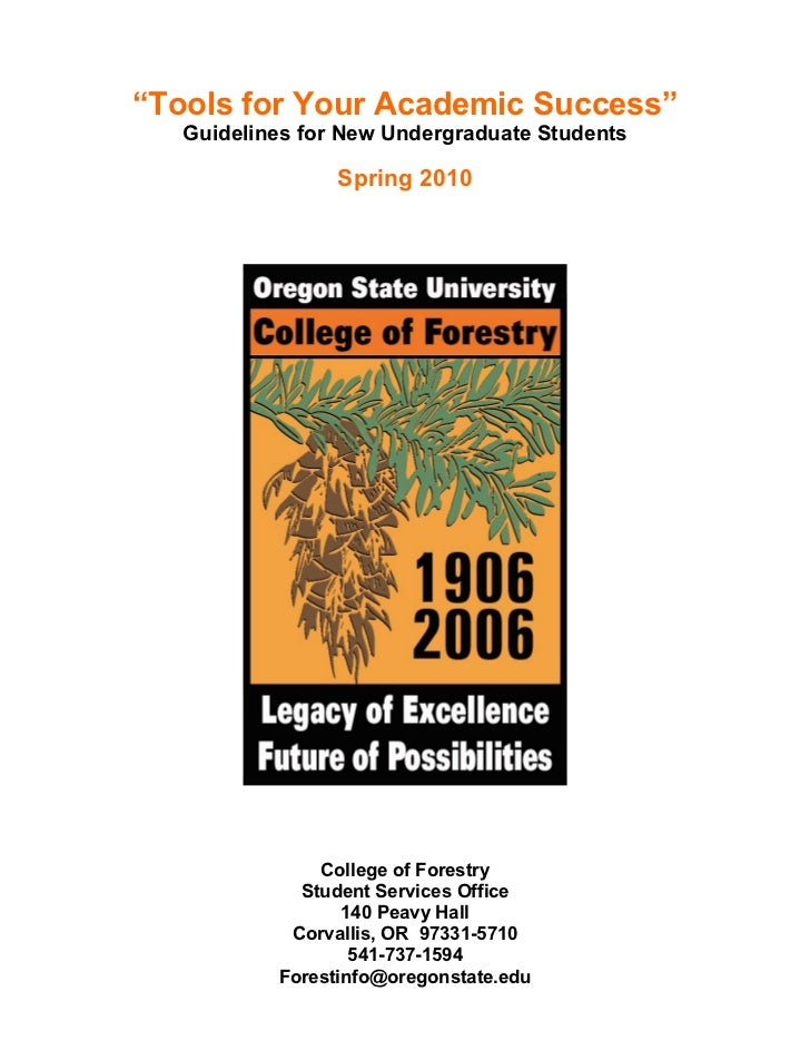 """Tools for Your Academic Success""    Guidelines for New Undergraduate Students                   Spring 2010              ..."