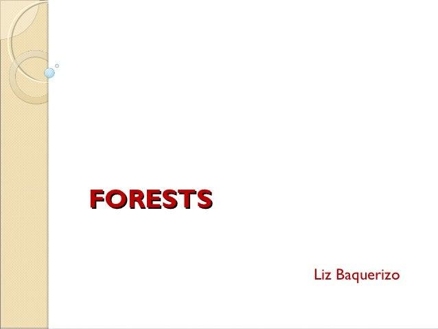 FORESTS          Liz Baquerizo