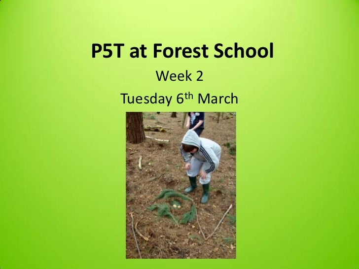 P5T at Forest School        Week 2   Tuesday 6th March