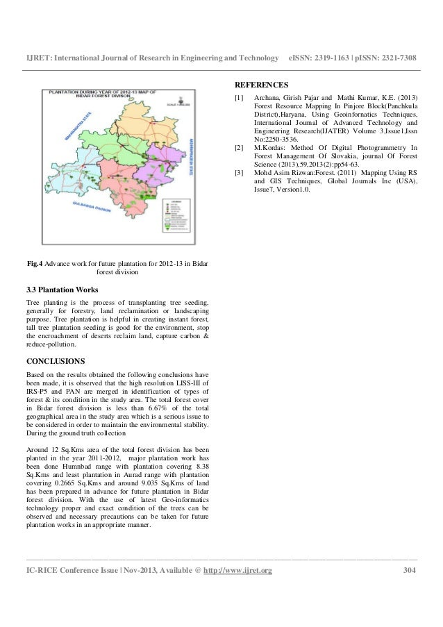 Forest type mapping of bidar forest division, karnataka using geoinformatics techniques Slide 3