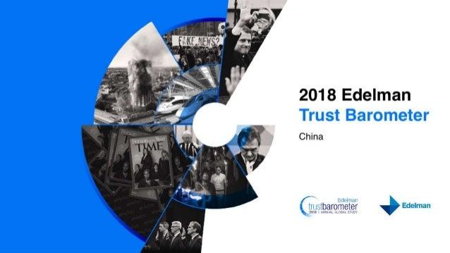 2018 Edelman Trust Barometer China