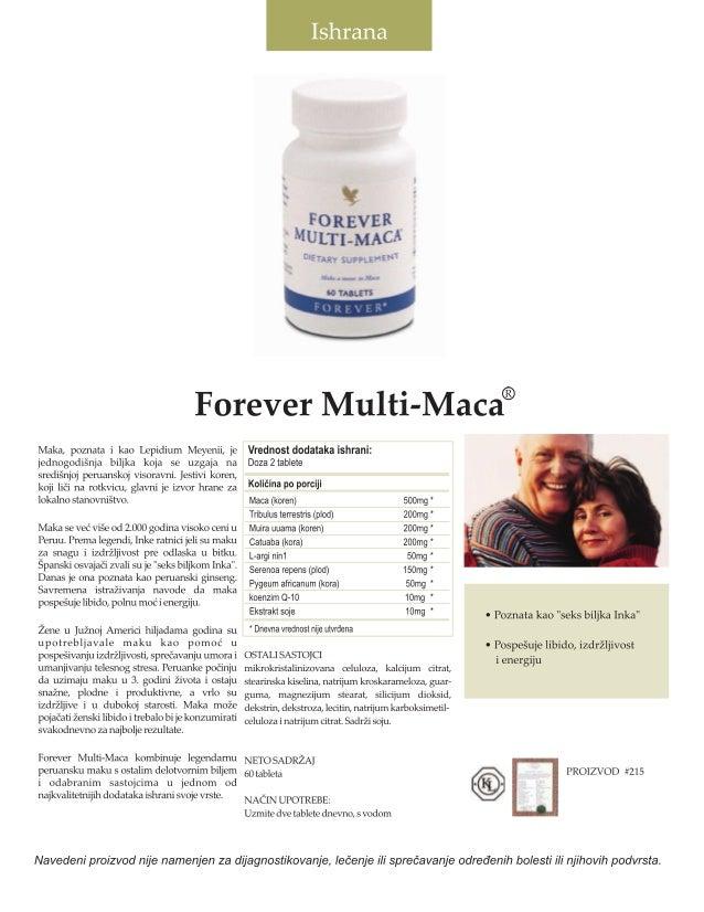 .`- X FOREVER ;  MULTI-MACA  UFTAAY suvPLU-*Wl  VAN .  na_ m . Ilm-  ~ toruurs ' n}  Forever Multi-Maca®  Maka,  poznata i...