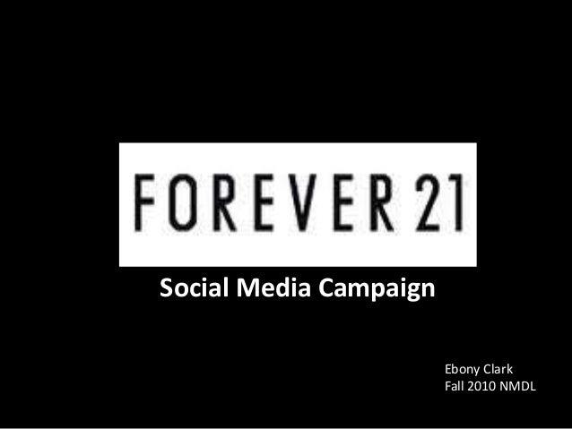 Social Media Campaign Ebony Clark Fall 2010 NMDL