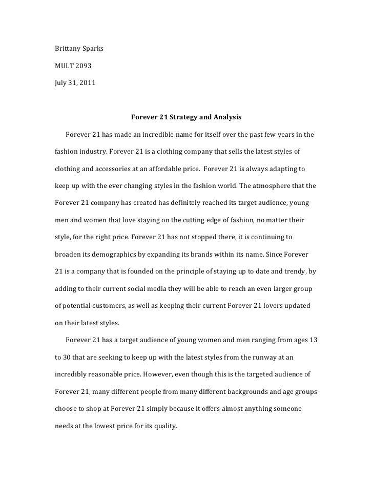 forever 21 essay