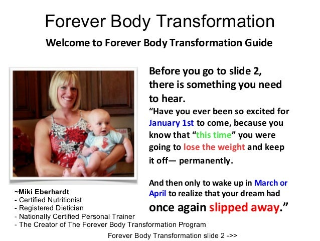 Forever Body Transformation         Welcome to Forever Body Transformation Guide                                       Bef...
