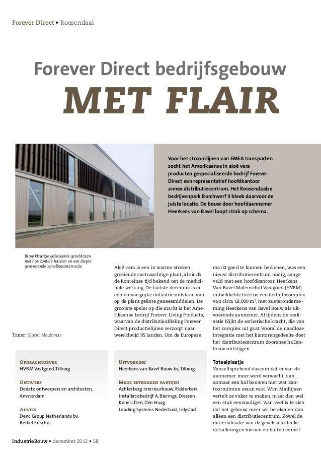 Forever Direct • Roosendaal         Forever Direct bedrijfsgebouw                         met flair                       ...
