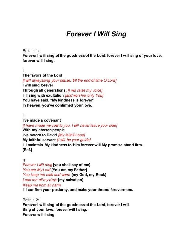 I will i will i will lyrics