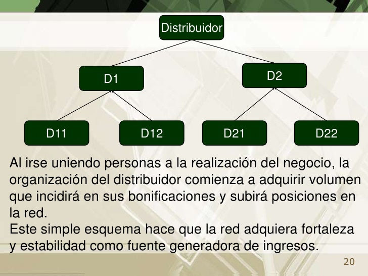 La compañía mantiene un sistema informático para informar a los participantes de los volúmenes de ventas personales y de r...