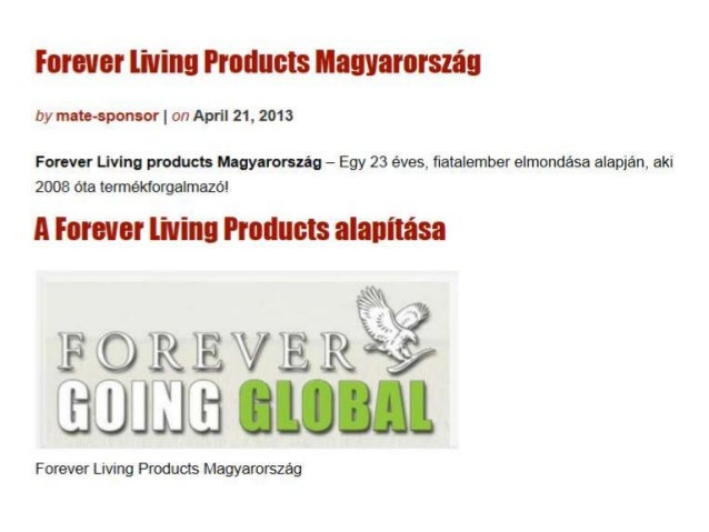 Forever Living Products Magyarország• http://www.empowernetwork.com/mate-sponsor/blog/forever-living-products-magyarorszag...