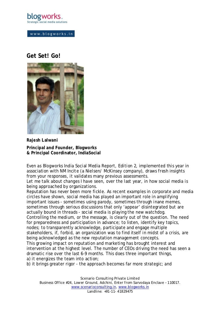 Get Set! Go!Rajesh LalwaniPrincipal and Founder, Blogworks& Principal Coordinator, IndiaSocialEven as Blogworks India Soci...