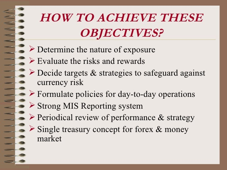 Forex objectives