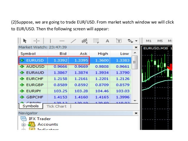 (4)If we want to set 'take profit' and 'stop loss' option then we have to double click Those option. The following screen ...