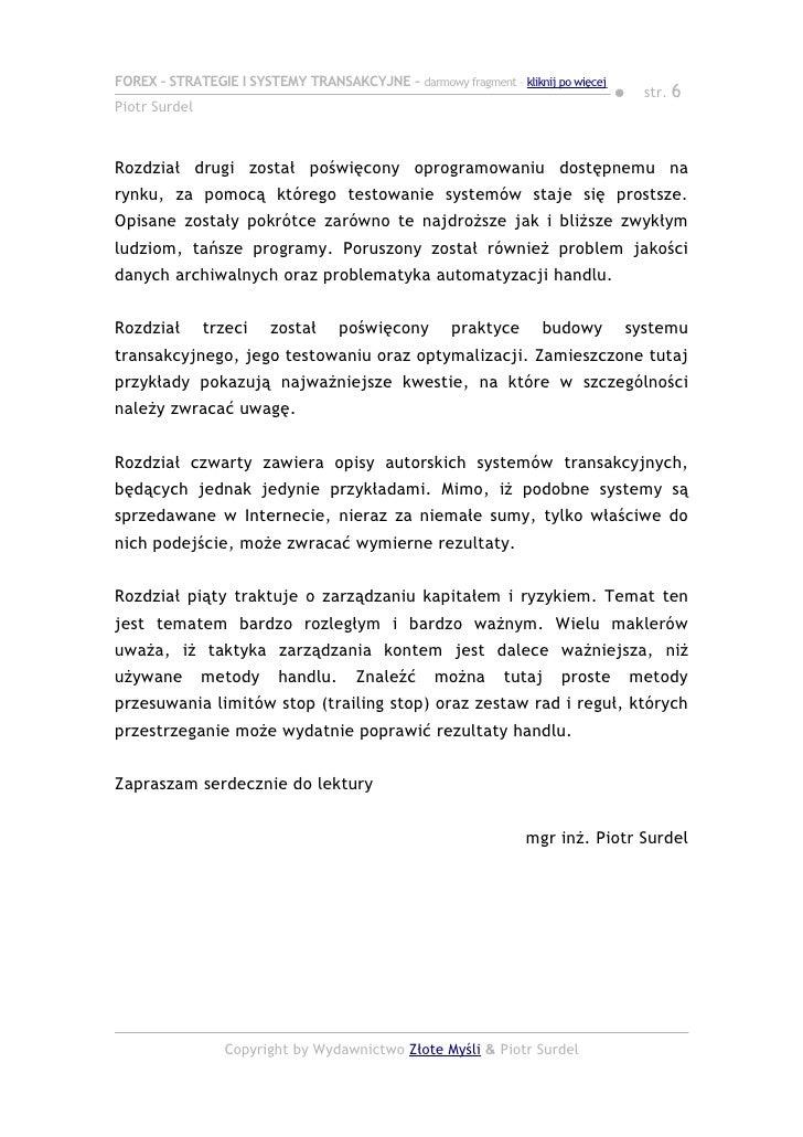 Forex strategie oraz systemy transakcyjne chomikuj