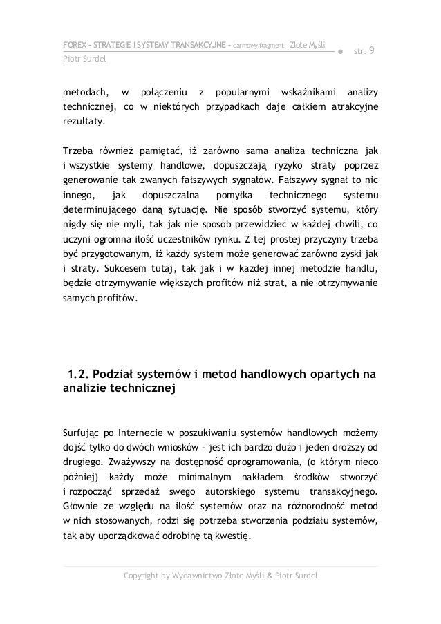Forex 3. Strategie i systemy transakcyjne - Piotr Surdel - ebook - Baza tanich ebooków
