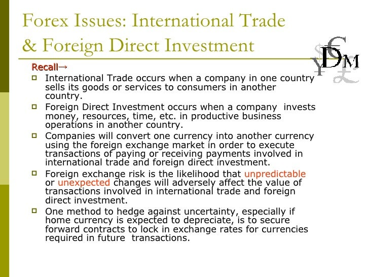 Forex investment plans international