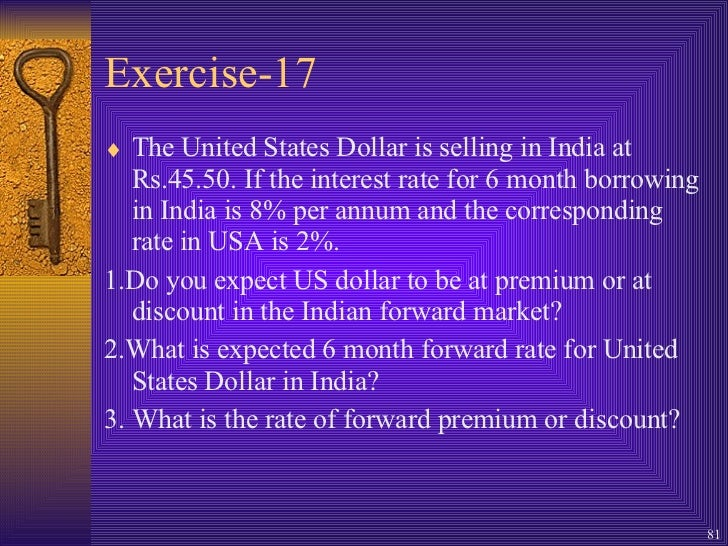Forex forward rates in india