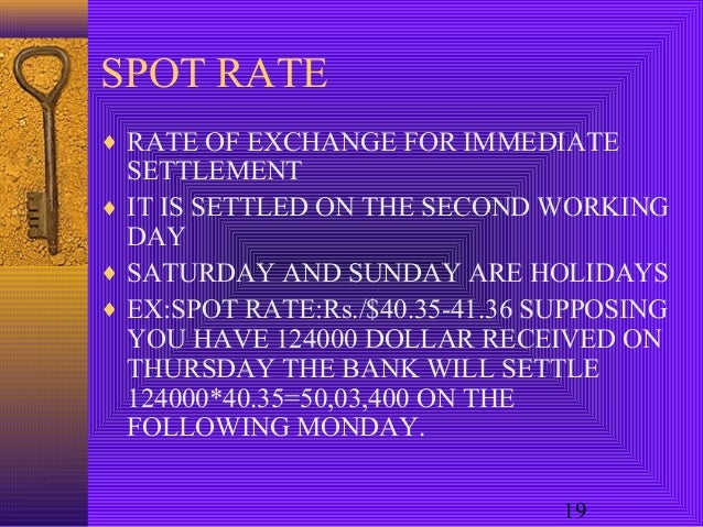 Forex settlement holiday