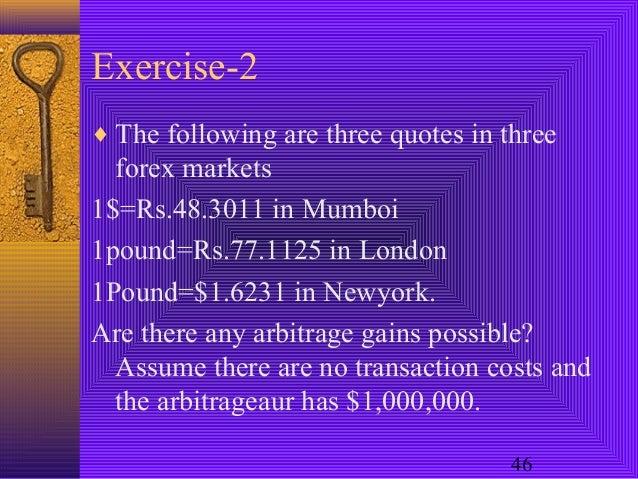Arbitrage in forex markets