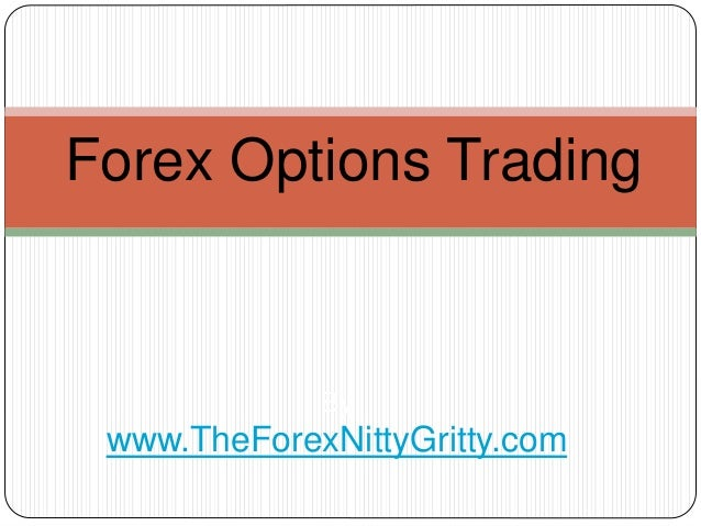 Options trading or forex