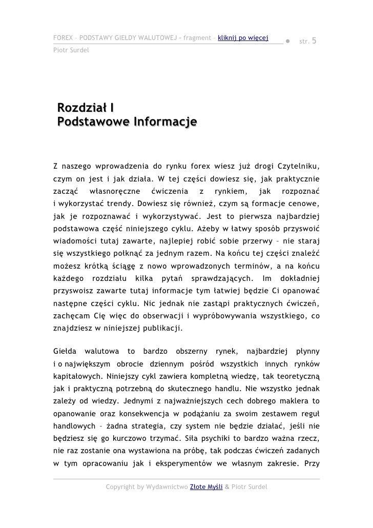 Piotr surdel forex pdf