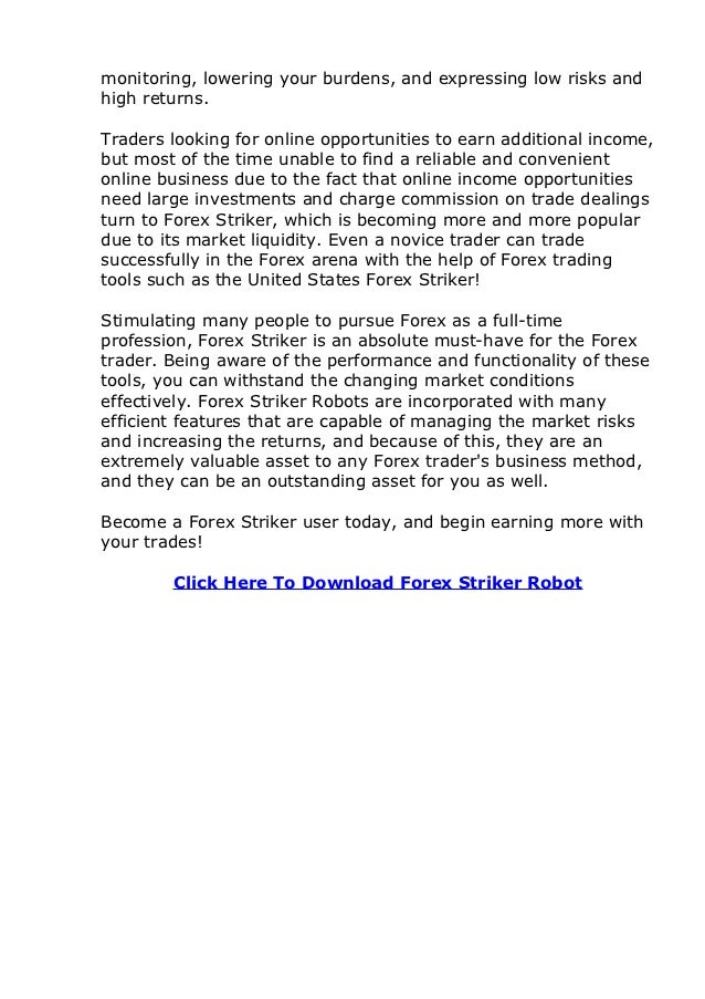 Forex striker robot review
