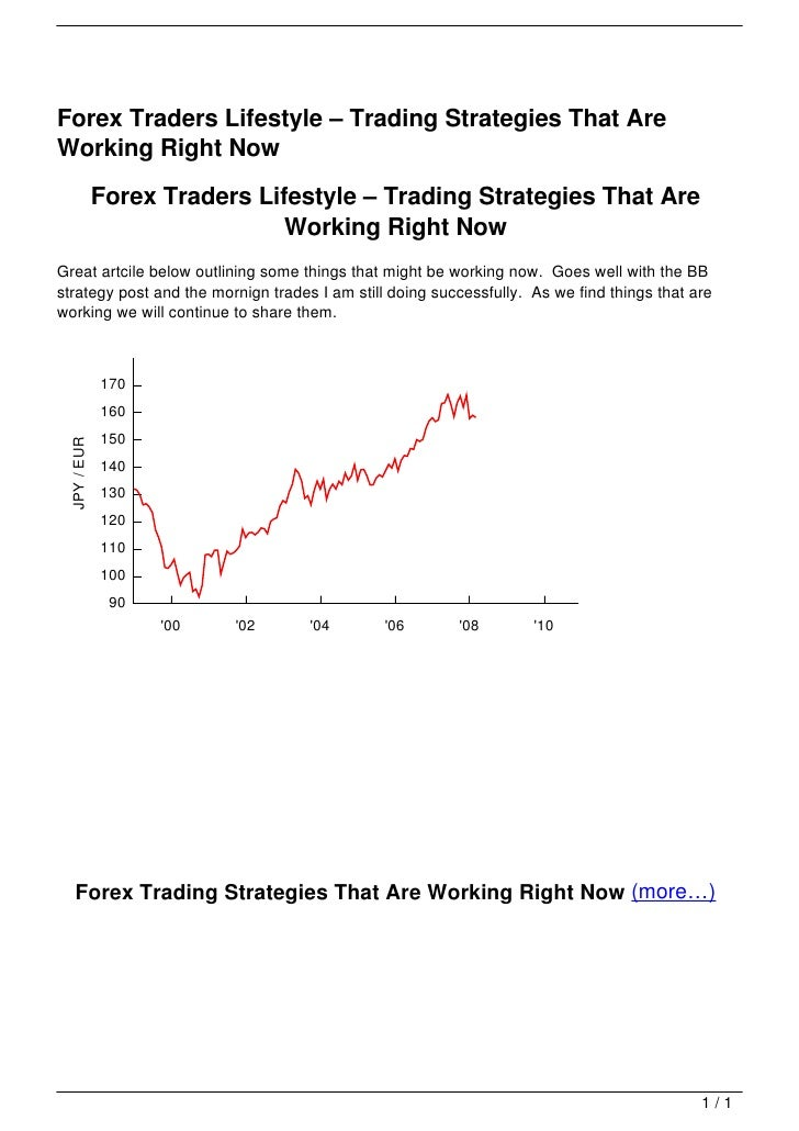 Forex Traders Lifestyle – Trading Strategies That Are                                   Working Right Now                 ...