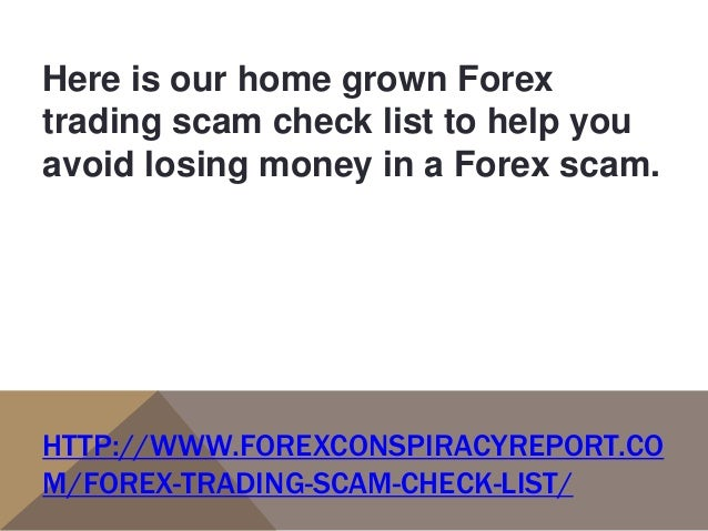 Forex trading scams