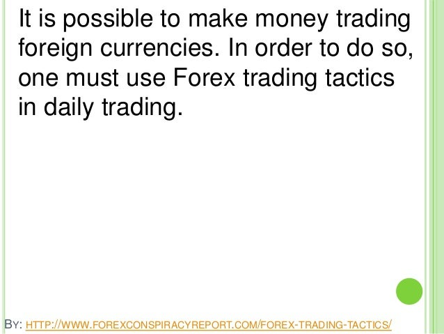 Is it possible to make money from forex trading