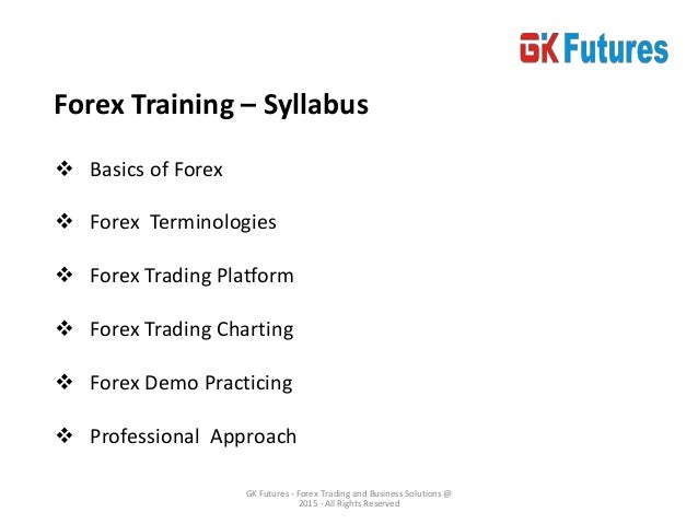 Forex Trading Course - NCFM Academy Hyderabad