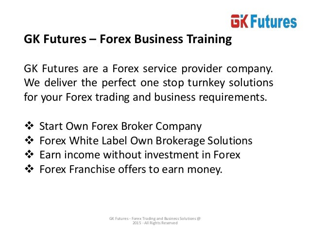 Forex broker training