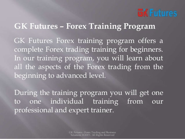 Forex trading training