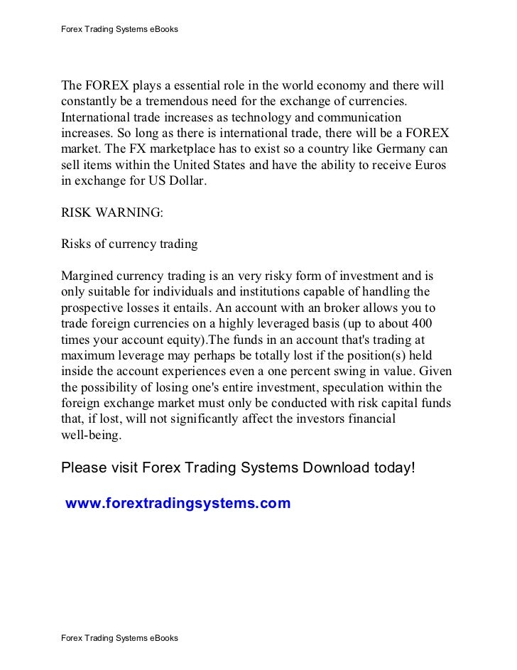 Forex disclaimer template