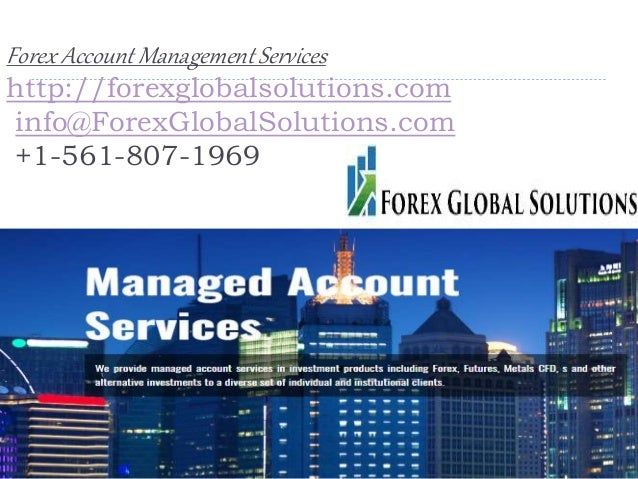 Forex Account Management Services -