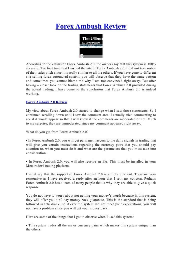 Exclusive Forex Ambush Involving.0 Review | hyfimizoz