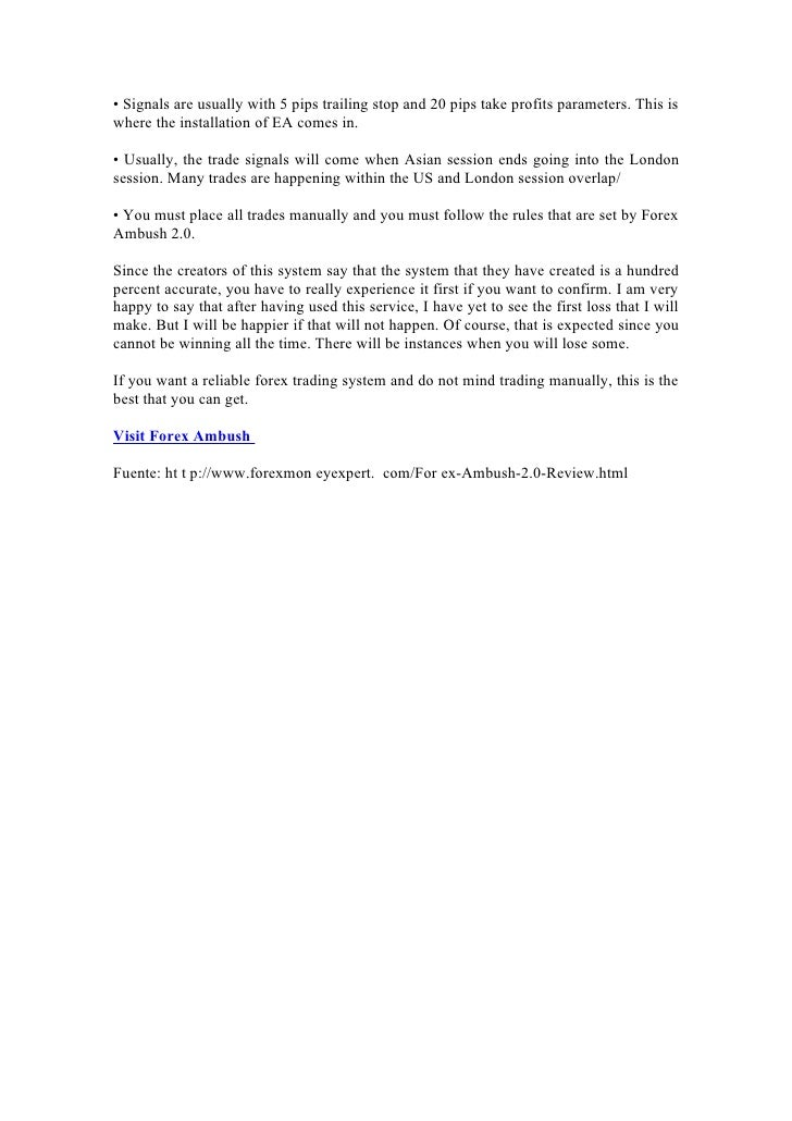 Forex Ambush Review | makemuchmoneyreviews