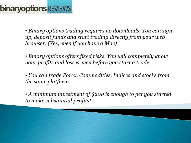 Binary options neural network