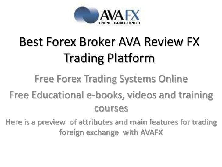 Forex best forex broker ava fx review fx trading platform