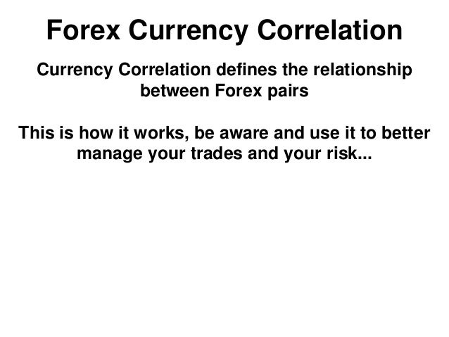 Currency correlation trading strategy
