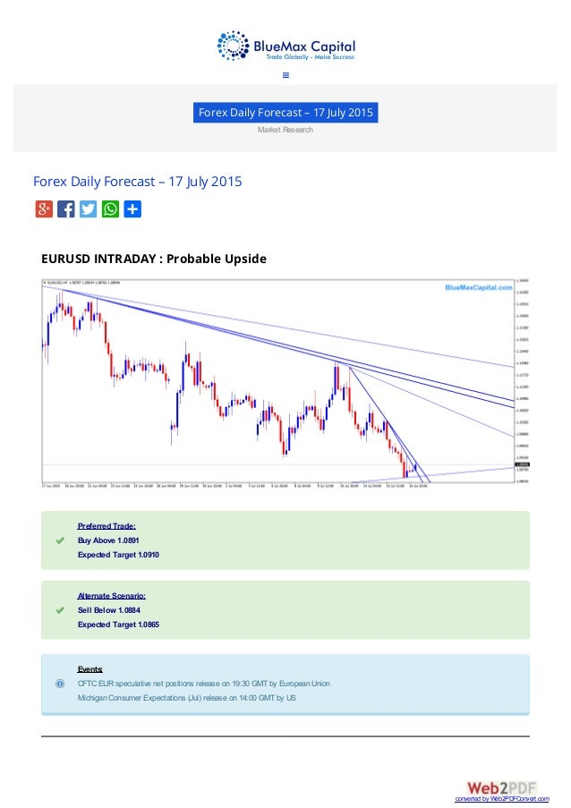 Forex weekly forecast