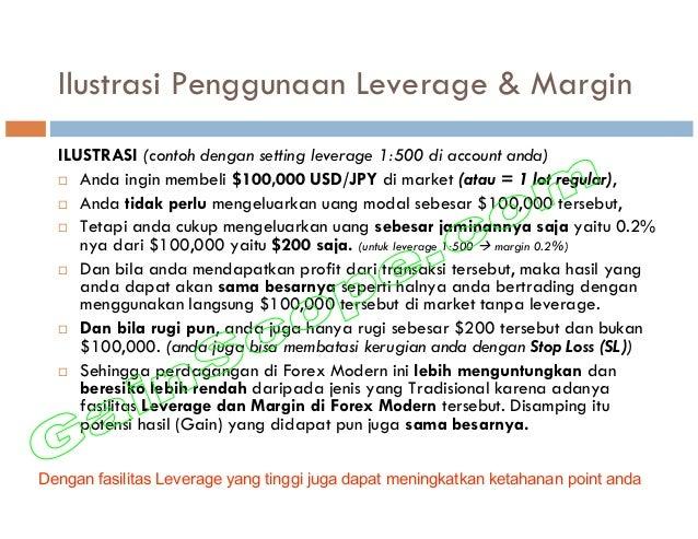 Ilustrasi Penggunaan Leverage & Margin ILUSTRASI (contoh dengan setting leverage 1:500 di account anda) Anda ingin membeli...