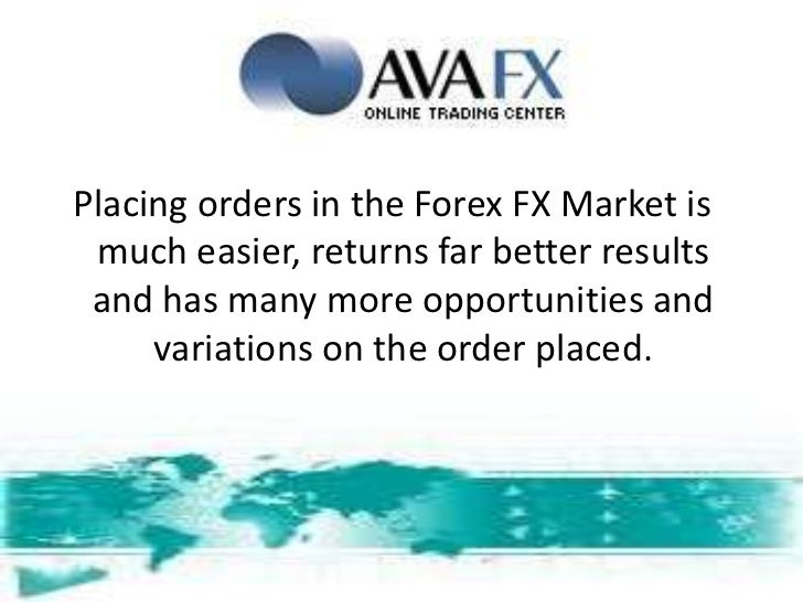 Stop and limit orders forex
