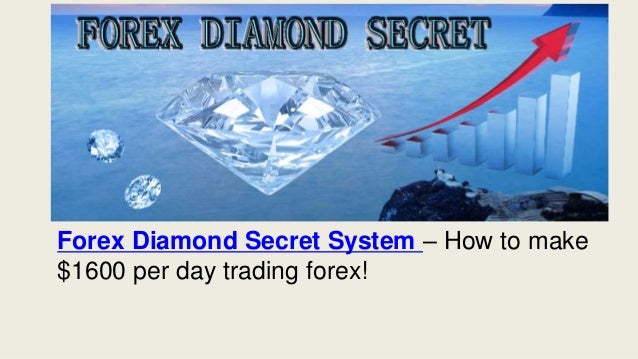 Forex Diamond Secret System – How to make $1600 per day trading forex!