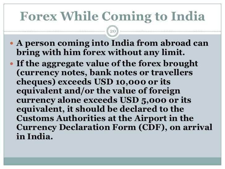 Forex limit in india