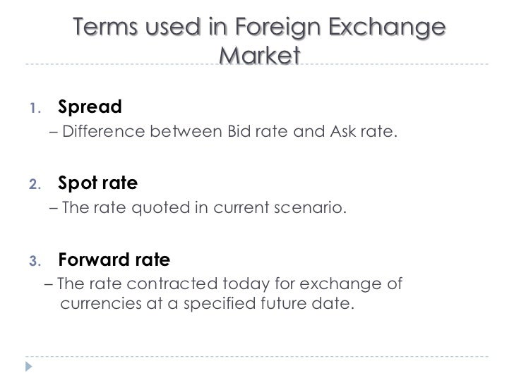 Forex forward contract rates
