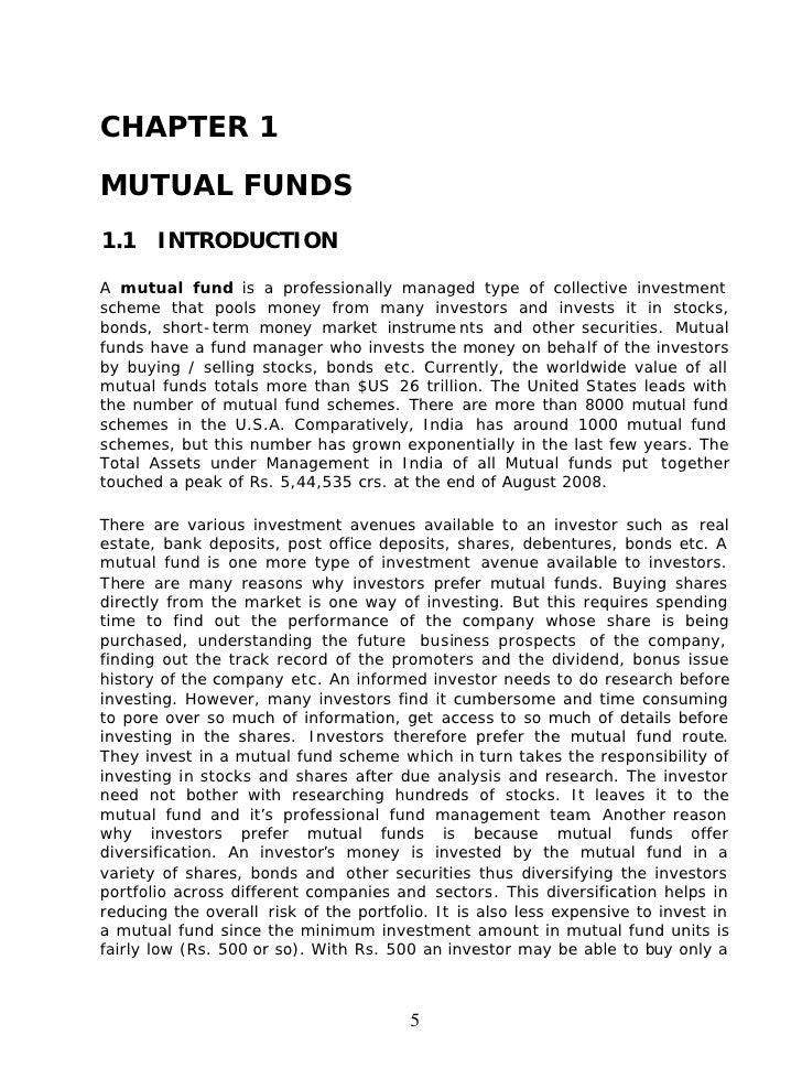 Forex mutual funds