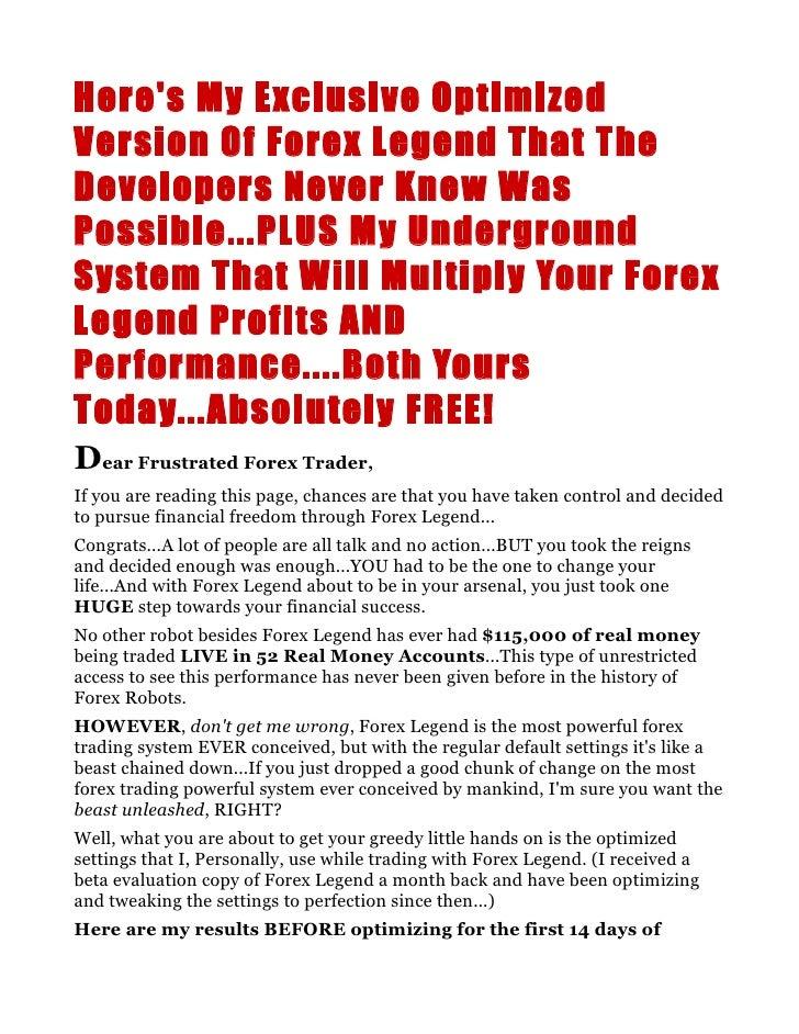 Forex legends