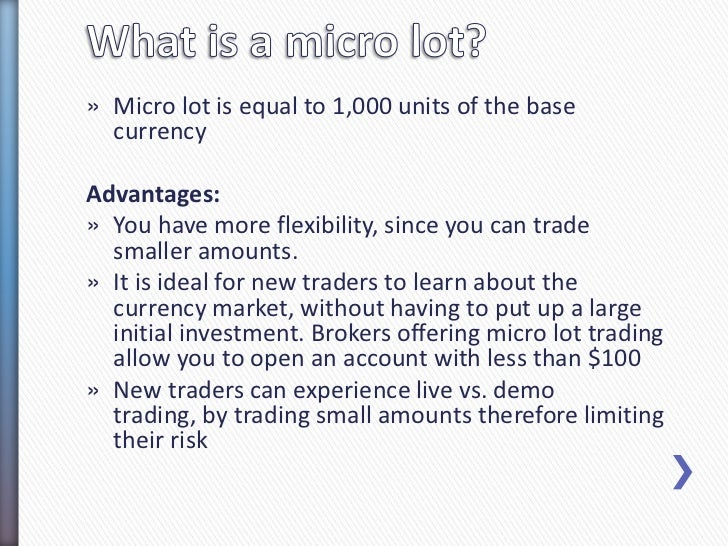 Forex lot sizes explained