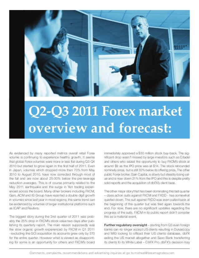Retail forex industry report