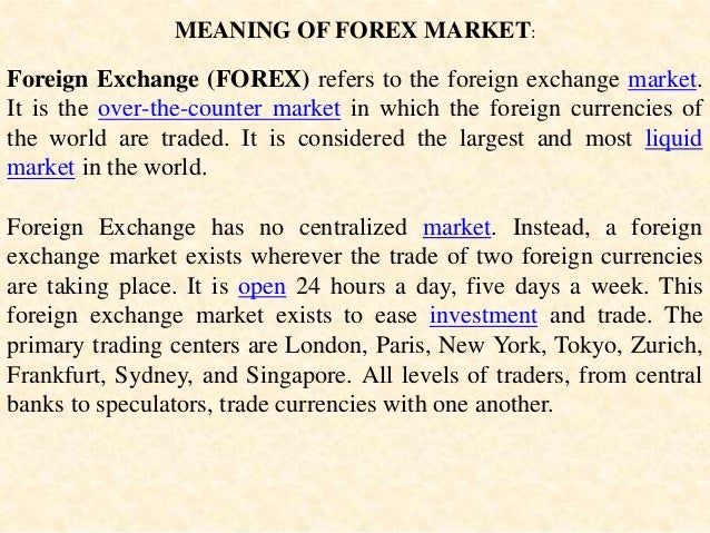 Forex oversight